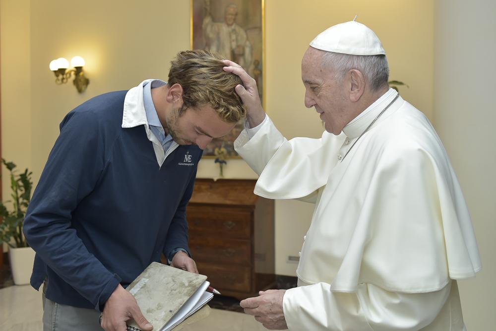 Rencontre de Paul Bablot et du pape Francois