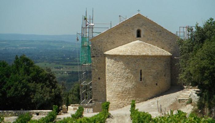 Chapelle Sainte-Hilaire pendant les travaux
