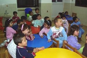 Réfectoire des enfants de la crèche de Bethléem