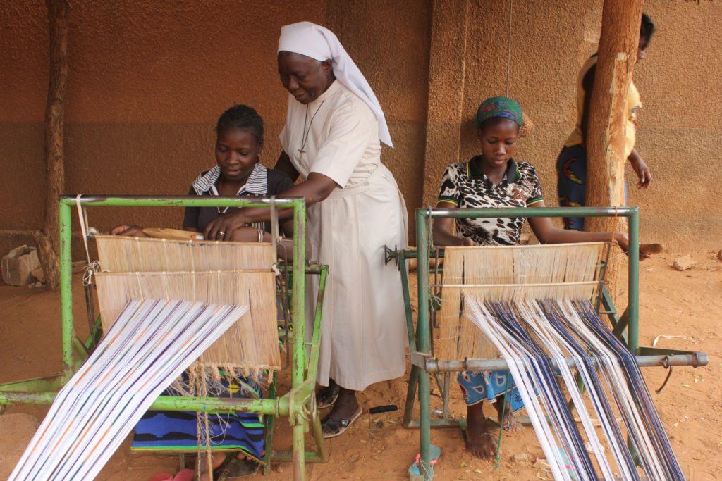 Atelier de tissage Burkina