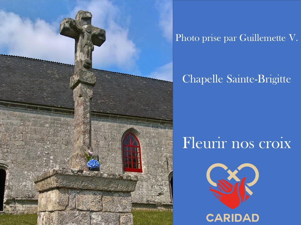 Photo de calvaire fleuri Chapelle Sainte-Brigitte