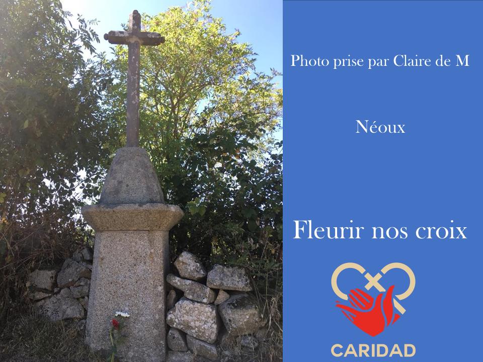 Photo de calvaire fleuri Néoux