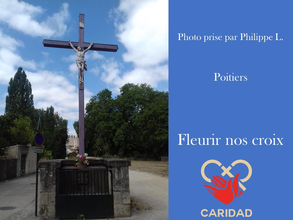 Photo de calvaire fleuri Poitiers