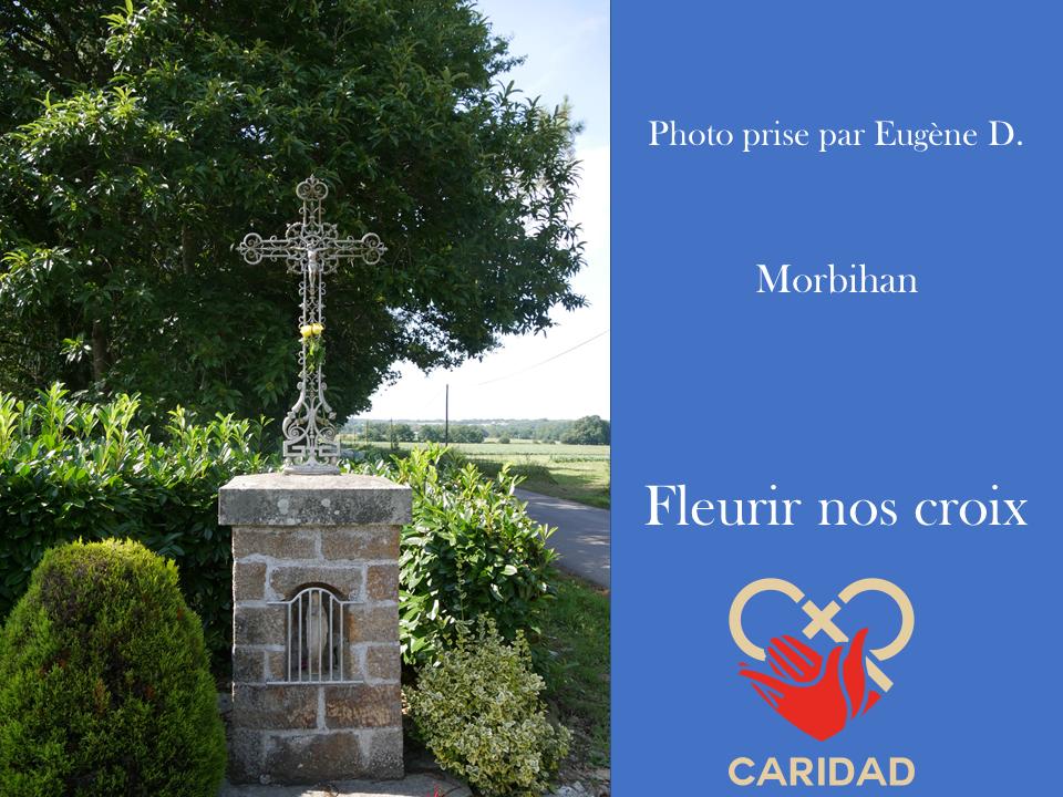 Photo de calvaire fleuri Morbihan