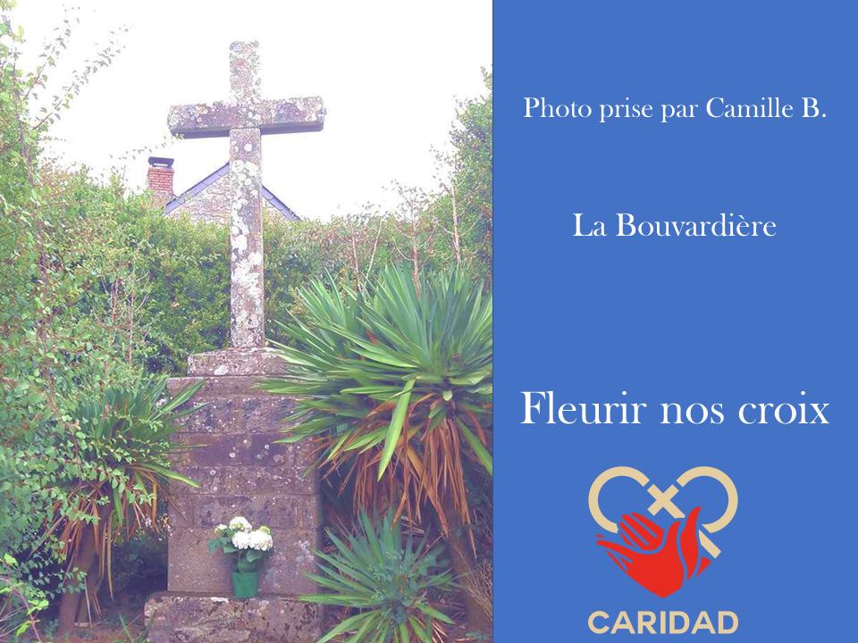 Photo de calvaire fleuri La Bouvardière