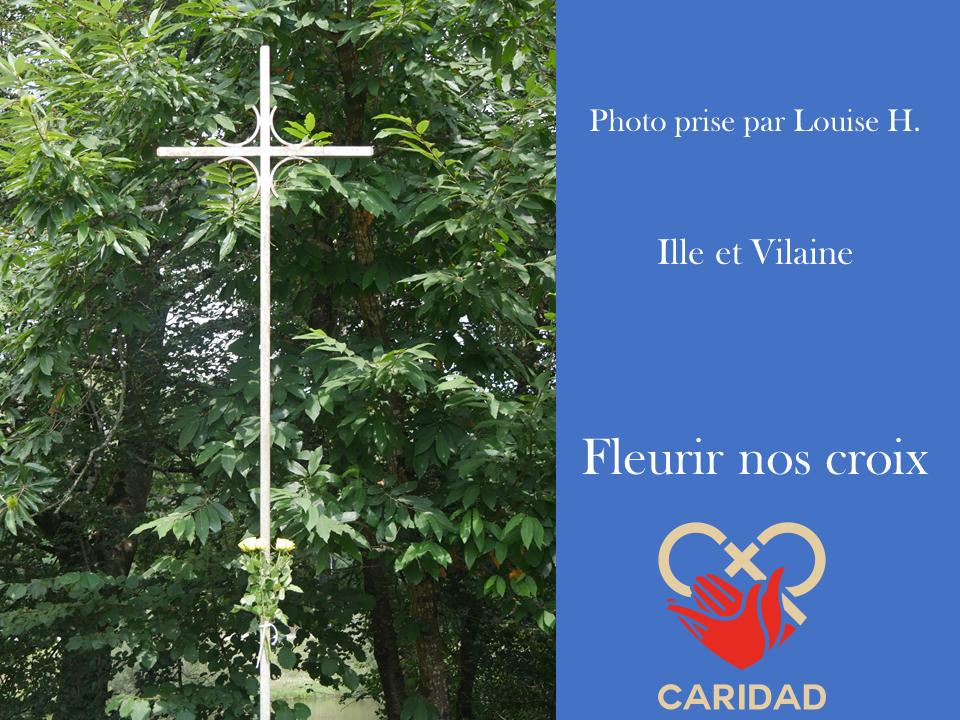 Photo de calvaire fleuri Ille-et-Vilaine