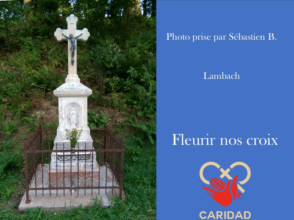 Photo de calvaire fleuri Lambach