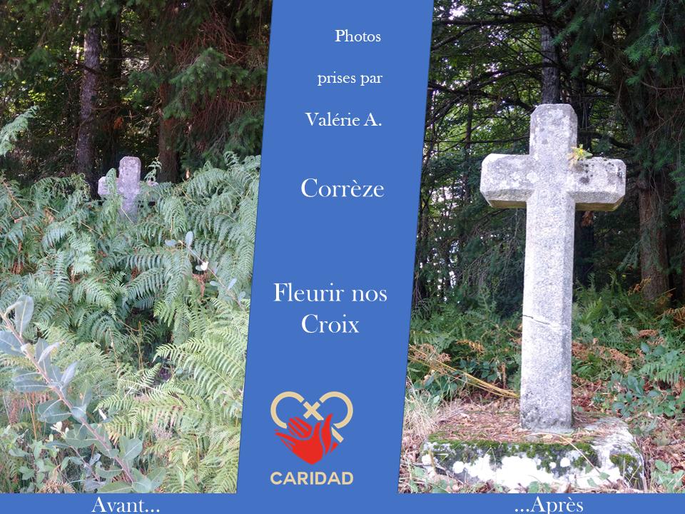Photo de calvaire fleuri Corrèze