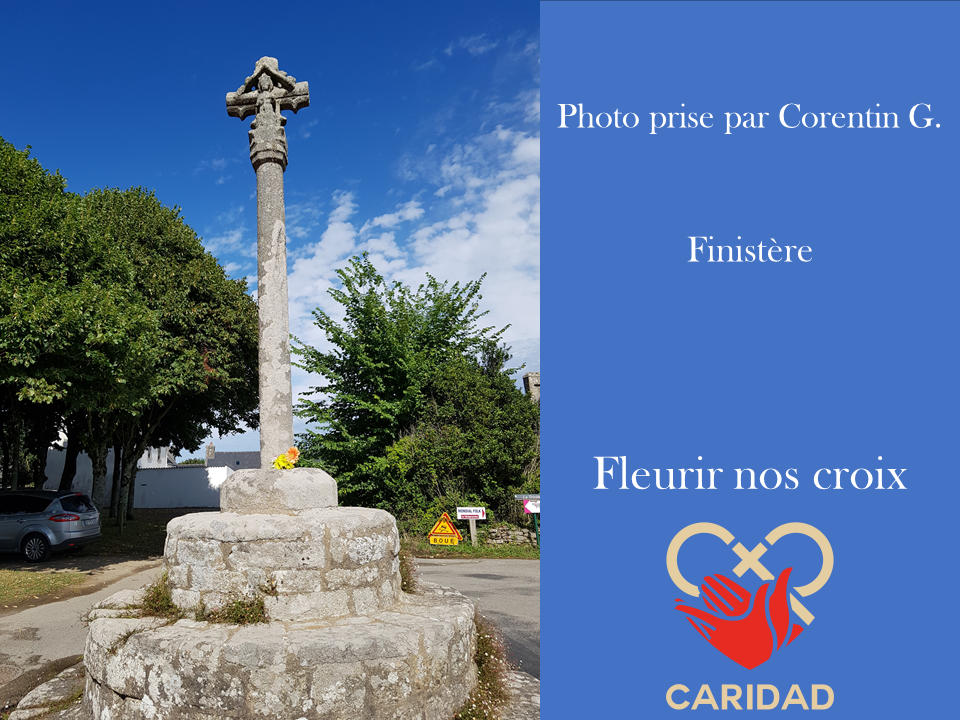Photo de calvaire fleuri Finistère