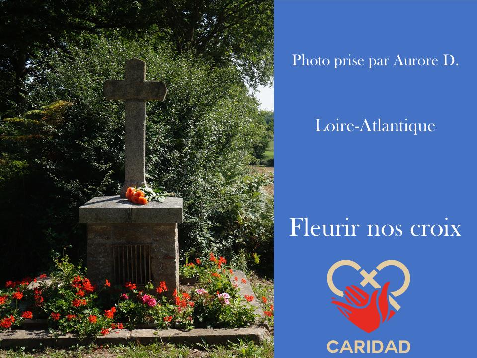 Photo de calvaire fleuri Loire-Atlantique