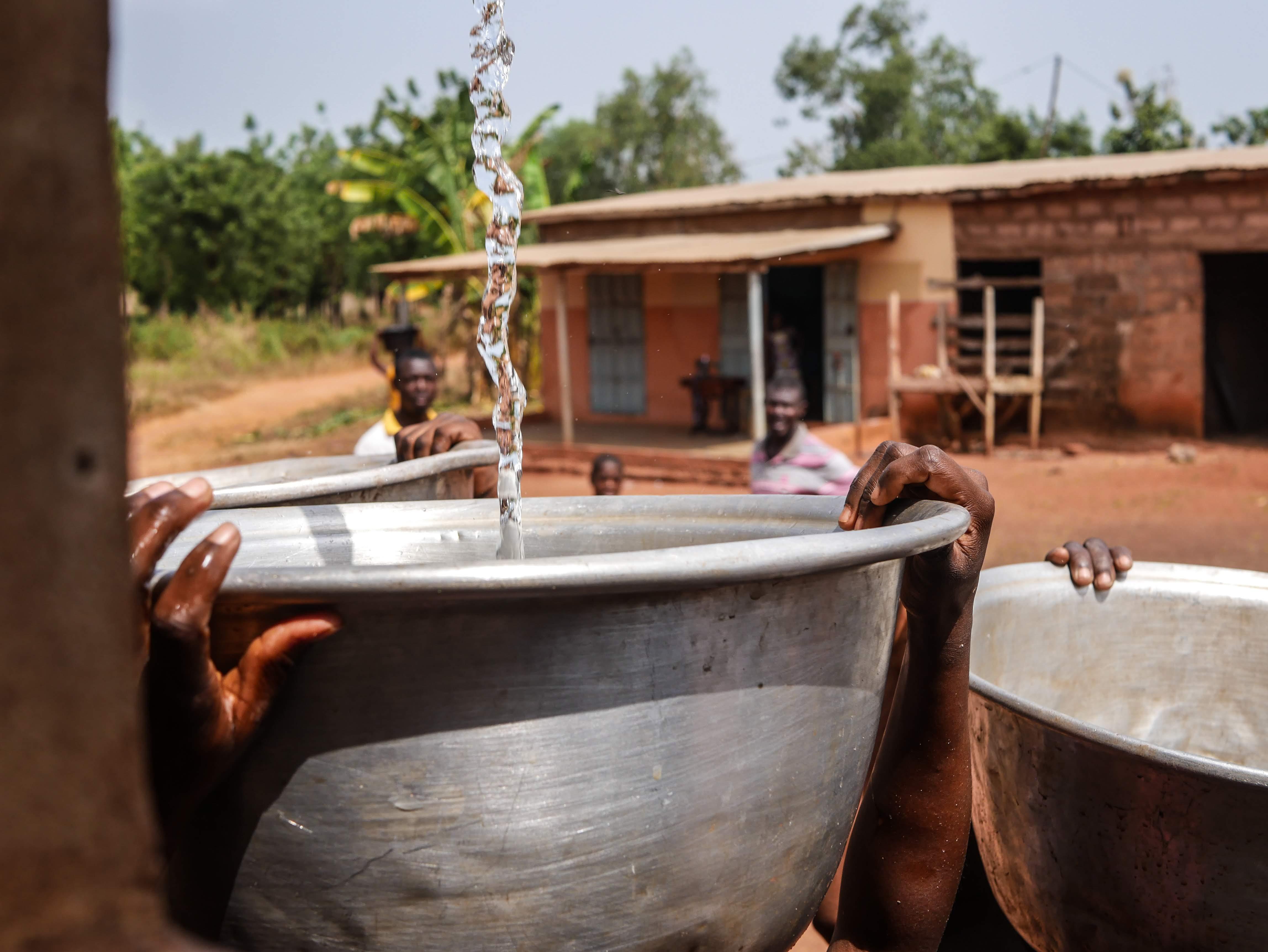 Un château d'eau pour le Bénin